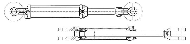 Mechanical Power Hydraulic Cylinder Parts