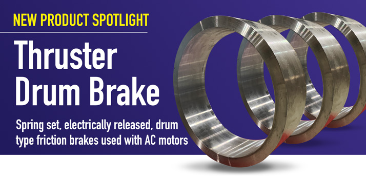 Thruster Drum Brake for industrial machinery and conveyor system applications