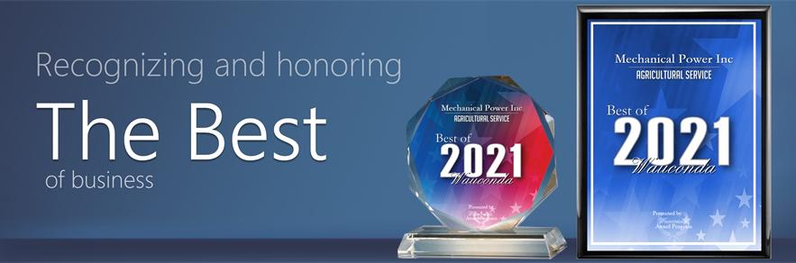 Mechanical Power Receives 2021 Best of Wauconda Award